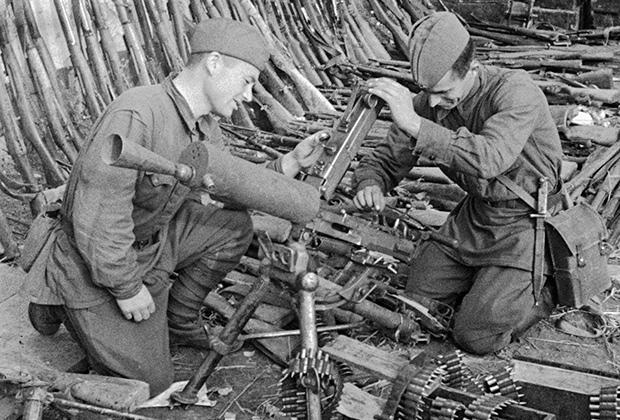 Трофейное оружие, взятое Красной армией в Запорожье