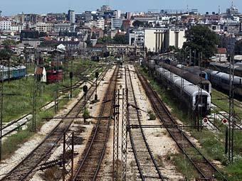 Въезд на железнодорожнай вокзал Белграда. Фото Reuters