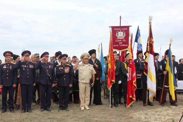 На Херсонщине отметили 520-летие первого официального упоминания о военных действиях казаков около острова Тягин
