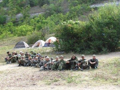В международном казачьем лагере под Эски-Кермен провели показательные учения (ФОТО)