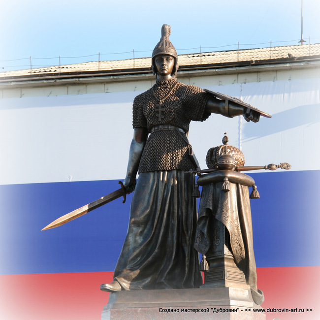 Бронзовая «Россия» в Курганской области. © Михаил Новосёлов / www.dubrovin-art.ru