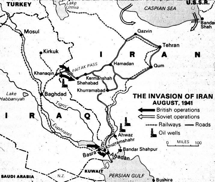"""Операция """"Согласие"""". Ввод советских войск в Иран в 1941 году"""