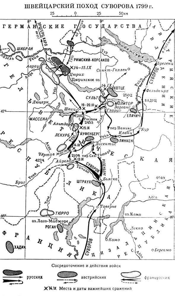 Война в Италии и Швейцарский поход Суворова. Часть 2