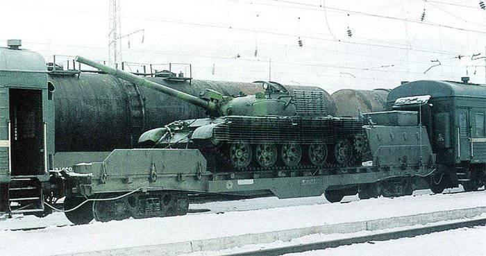 Использование бронепоездов в Чечне