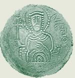 Святополк Владимирович Окаянный. Изображение на тогдашней монете.