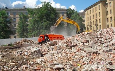 Промышленные отходы на строительной площадке