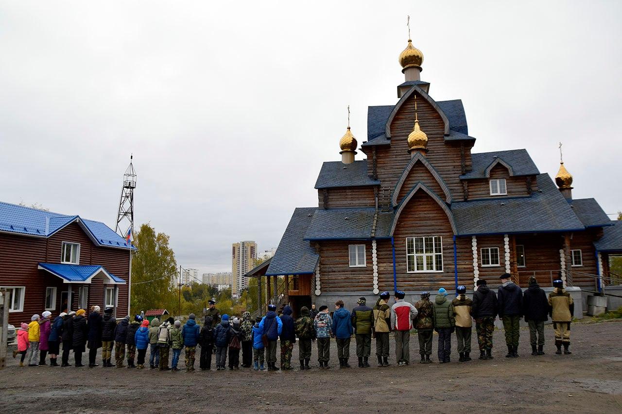 Кадеты Исетского казачьего кадетского корпуса в Екатеринбурге