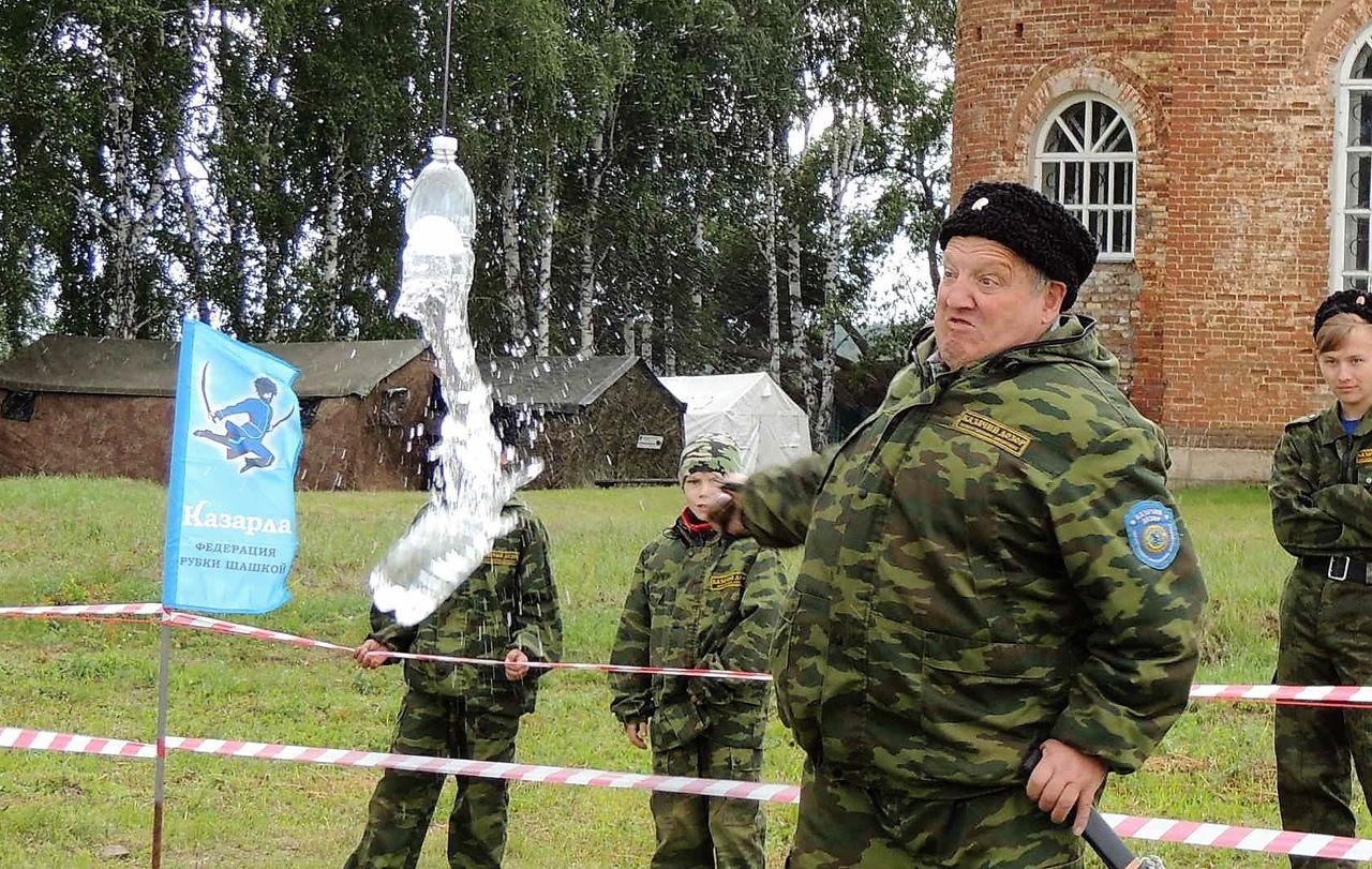 Рубка шашкой Казарла в Черноусово Свердловской области