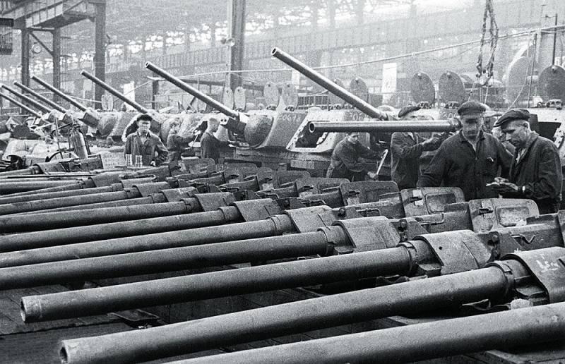 Эвакуация танков